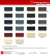 Heat Resistant BBQ Smoker Pit Paint Color Card
